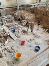 Archaeologists at work